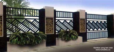 pagar rumah mewah model rumah modern