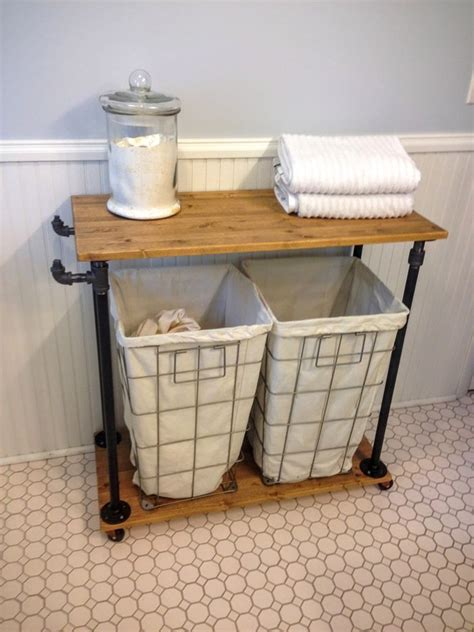 wooden rolling laundry basket cart diy rolling laundry