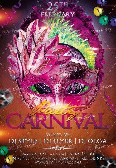 Brazilian Carnival Flyer Template by Carnival Party Psd Flyer Template 17003 Styleflyers