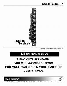 Multi Tasker Mt107-306 Manuals