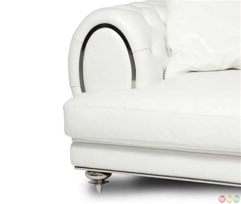 Tufted Leather Chair And A Half by Michael Amini Modern Tufted Leather Chair And