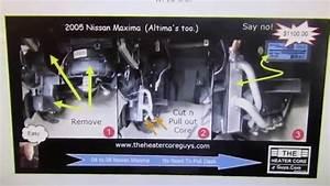 Nissan Maxima Heater Core Replacement  Altima Heater Core