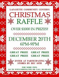 christmas raffle template postermywall With christmas raffle poster templates