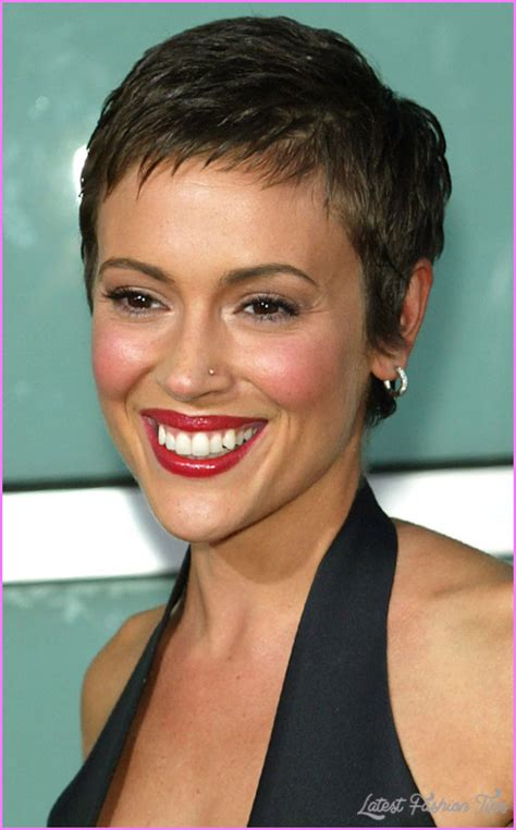 alyssa milano pixie haircut latestfashiontipscom