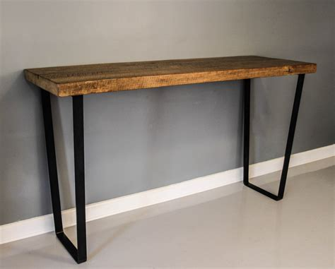 metal legs for wood table dining table steel leg table reclaimed planks solid by
