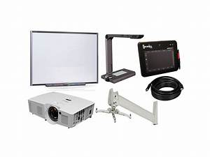 smartboard sbm680 st deluxe package sbm680 interactive With document camera and projector combo