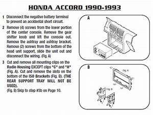 1993 Honda Accord Installation Parts  Harness  Wires  Kits