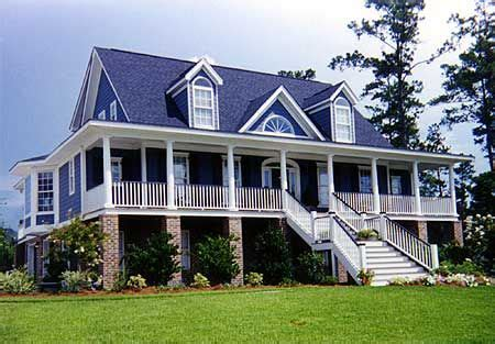 Plan 9135GU: Gracious Low Country House Plan Elevated
