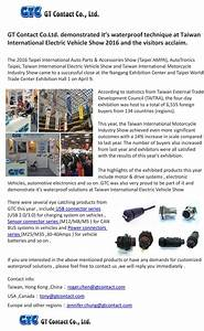 waterproof connector gtc gt contact co ltd news With thank you letter for visiting trade show booth