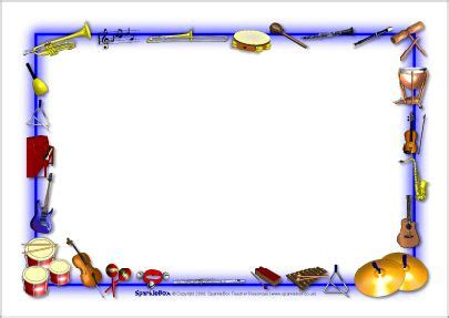 musical instruments themed  page borders sb
