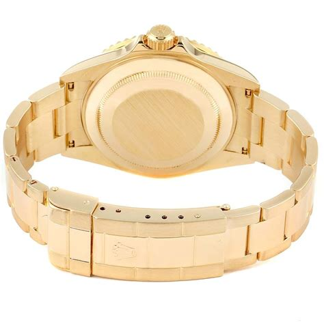 Rolex Submariner Yellow Gold Blue Dial 40mm Mens Watch ...
