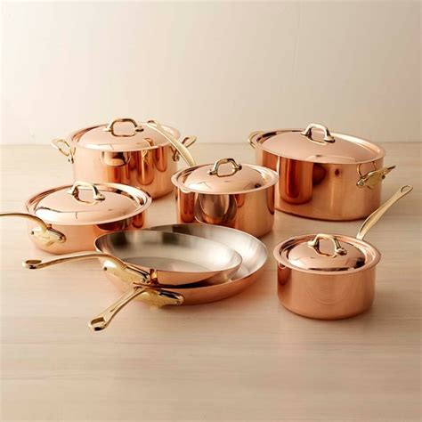 mauviel cuisine mauviel copper 12 cookware set williams sonoma