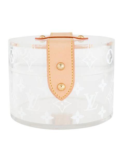 louis vuitton  limited ed monogram plexi leather vanity jewelry trinket box  sale  stdibs