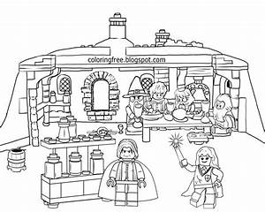 2019 Christmas Harry Potter Coloring Pages 24 Printable