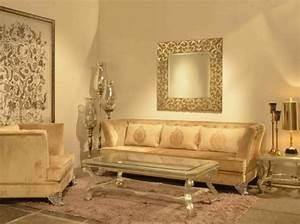 Goldene Punkte Wand : einrichten mit farben goldene wandfarbe und m bel f r luxus ~ Michelbontemps.com Haus und Dekorationen