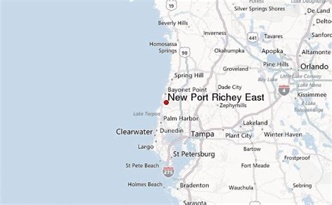 Port St Richey Florida Map