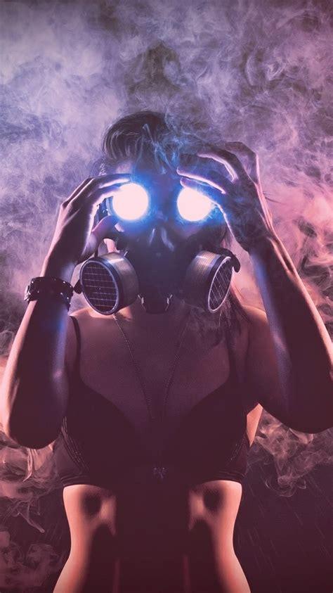 girl  smoke mask wallpaper iphone wallpaper iphone
