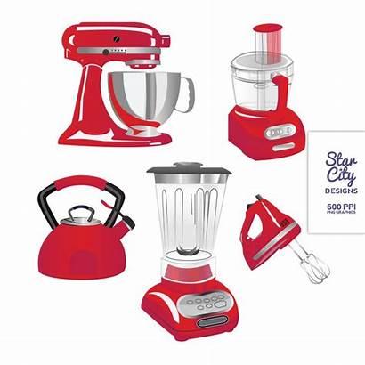 Kitchen Appliances Clipart Clip Vector Utensils Graphics