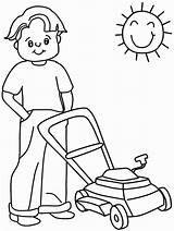 Coloring Mower Lawn Popular sketch template