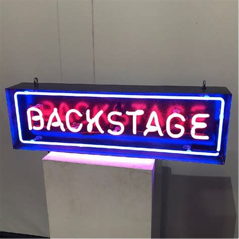 neon backstage hire kemp london bespoke neon signs prop hire large format printing