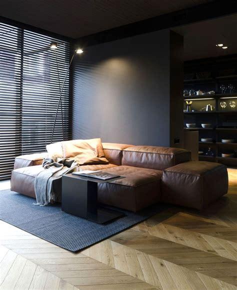 small masculine apartment  dark color schemes minimal masculine apartment home decor