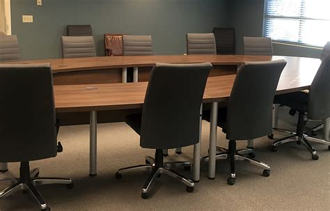 project u shaped conference table with leather