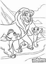 Lion Coloring Guard Pages sketch template