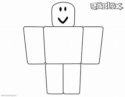 Roblox Noob Coloring Pages Simple Printable Sheets