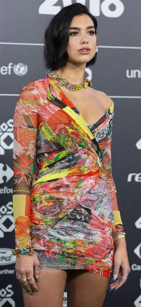 Dua Lipa Flaunts Hot Legs in $25,745 V-Neck Crystal Mesh Dress