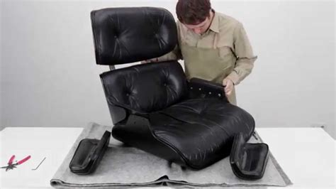how to restore an eames lounge chair with broken arm rest