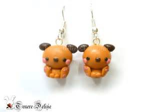 polymer clay stud earrings kawaii dog earrings polymer clay earrings by