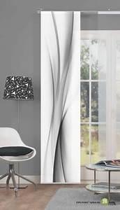 Schiebevorhang Schwarz Weiß : 86095 rochelle schiebevorhang mit digitaldruck wohn ~ A.2002-acura-tl-radio.info Haus und Dekorationen