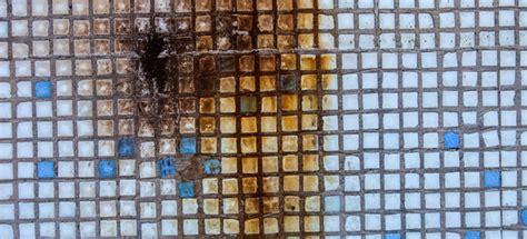 remove rust stains  ceramic tile flooring