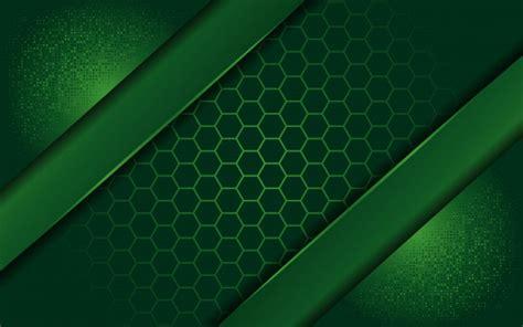 Elegant green background with overlap layer Premium Vector