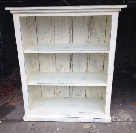 shabby chic bookshelves bookcase cream distressed shabby chic ready to ship