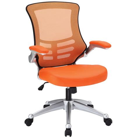 lexmod attainment office chair with orange