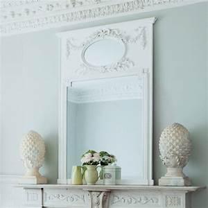 Miroir 160 Cm : miroir trumeau en bois blanc h 160 cm mirano maisons du monde ~ Teatrodelosmanantiales.com Idées de Décoration
