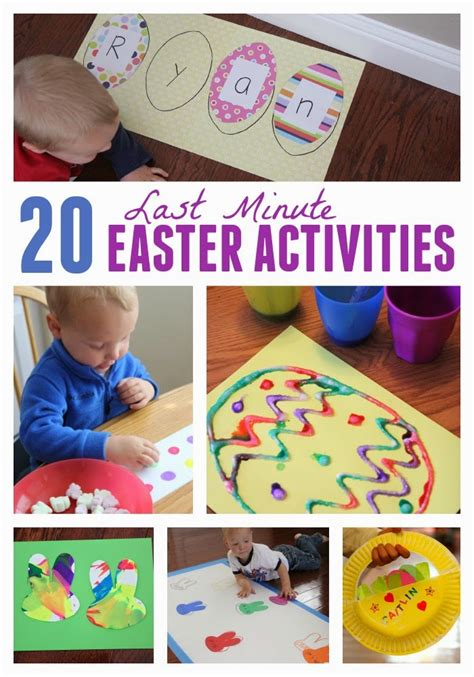 Toddler Approved! Tape Eggs Toddler Easter Craft