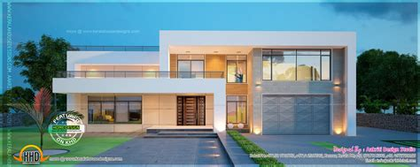 New Modern Villa Exterior Kerala Home Design Floor Plans