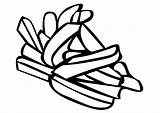 Fries French Coloring Pages sketch template