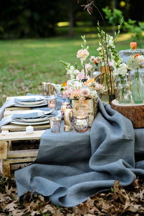 rustic garden picnic wedding meyer photography
