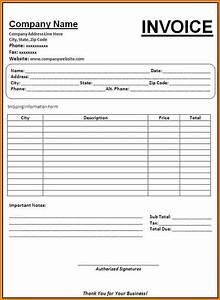 blank invoices printable free hardhostinfo With empty invoice