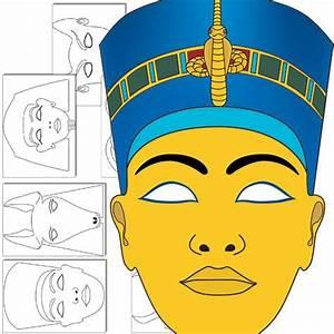 Egyptian god masks templates ancient egypt pinterest for Egyptian masks templates