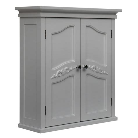Bathroom Wall Storage Cabinets With Doors by White 2 Door Bathroom Wall Cabinet Yvette Wall Cabinet