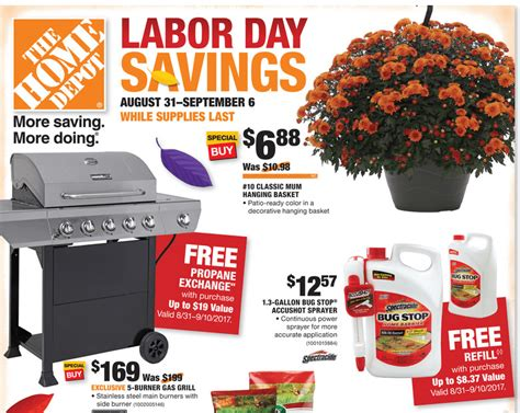 Home Depot Labor Day Sale Sneak Peek! 5 Day Sale! Unusual Door Knobs Exterior Mats Front With Sidelights Oregon City Garage Seal Side French Screen Hinge Pin Closer Lowes Barn