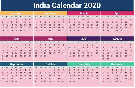 annual india calendar printcalendarxyz