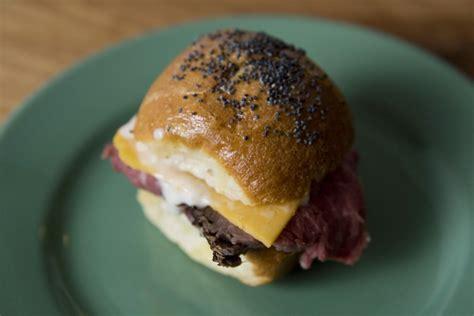 mini roast beef sliders recipe food republic