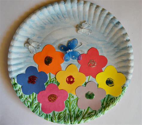 Paper Plate Spring Garden  Pinterest  Paper Plate Crafts