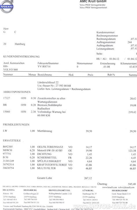 volvo rechnung warum ist volvo  deutschland  teuer