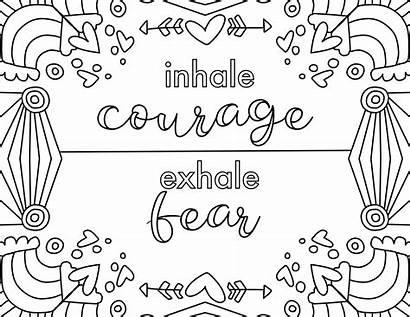 Coloring Courage Fear Flourish